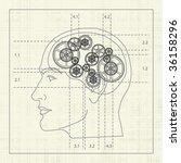 gear of the human mind ... | Shutterstock .eps vector #36158296