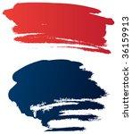 vector grunge brushes | Shutterstock .eps vector #36159913