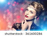 high fashion model girl beauty... | Shutterstock . vector #361600286