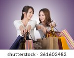 asian shopping woman with her... | Shutterstock . vector #361602482
