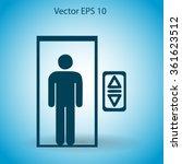 flat elevator icon. vector | Shutterstock .eps vector #361623512