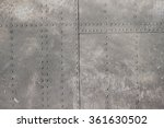 riveted metal from aircraft | Shutterstock . vector #361630502