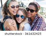 three girls having fun in the...   Shutterstock . vector #361632425