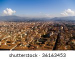 Top view of Florence from the duomo, Italy - stock photo