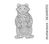 zentangle the baikal bear for... | Shutterstock .eps vector #361640552