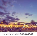 vintage tone blur image of... | Shutterstock . vector #361644842