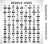 people icons set | Shutterstock .eps vector #361648496