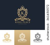 king place luxury hotel logo... | Shutterstock .eps vector #361650572