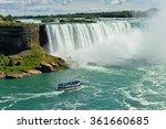 cruise ship near big horseshoe... | Shutterstock . vector #361660685
