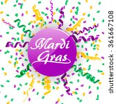 mardi gras sign with confetti... | Shutterstock .eps vector #361667108