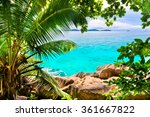 tropical beach. the seychelles | Shutterstock . vector #361667822