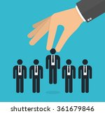 choosing the best candidate... | Shutterstock .eps vector #361679846
