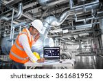 electrical engineer working at... | Shutterstock . vector #361681952
