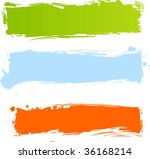 multicolored grunge banners in...