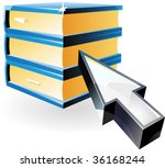 arrow pointing at books. vector ... | Shutterstock .eps vector #36168244