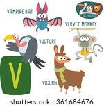 cute zoo alphabet in vector. v... | Shutterstock .eps vector #361684676