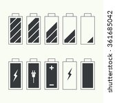 icons battery charge indicator. ...   Shutterstock .eps vector #361685042