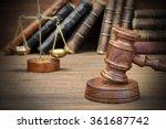 closeup of judges gavel  legal