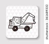 truck doodle | Shutterstock .eps vector #361689332
