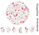 Stylized Round Template With...