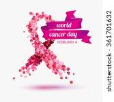 world cancer day. february 4 | Shutterstock .eps vector #361701632