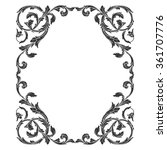 vintage baroque frame scroll... | Shutterstock . vector #361707776