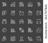moving line icons set   vector... | Shutterstock .eps vector #361707866