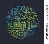 biotechnology round vector... | Shutterstock .eps vector #361708076
