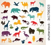 big set of african and european ... | Shutterstock .eps vector #361708325