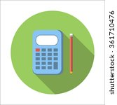calculator flat icon isolated...