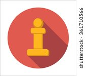 chess pawn flat icon isolated...