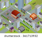 isometric landscapes with city... | Shutterstock .eps vector #361713932