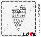 valentine's day card. love.... | Shutterstock .eps vector #361748882