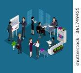 isometric business people team... | Shutterstock . vector #361749425