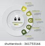 5 steps infographics vector... | Shutterstock .eps vector #361753166