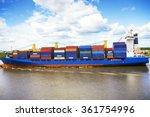 cargo container ship | Shutterstock . vector #361754996