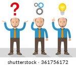 old  businessman cartoon during ... | Shutterstock .eps vector #361756172