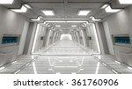 3d render. futuristic interior... | Shutterstock . vector #361760906