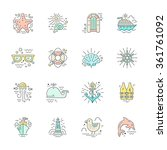 modern line style icons with... | Shutterstock .eps vector #361761092