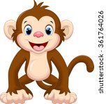 cute monkey cartoon | Shutterstock .eps vector #361764026