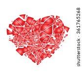 valentines day broken heart   Shutterstock .eps vector #361765268