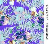flowers field seamless pattern   Shutterstock . vector #361765976