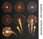collection festive fireworks of ... | Shutterstock .eps vector #361766036