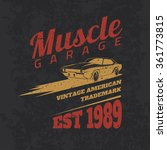 vintage american muscle car for ... | Shutterstock .eps vector #361773815