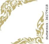 golden border | Shutterstock .eps vector #361774118