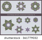 a set of colored circular... | Shutterstock .eps vector #361779032