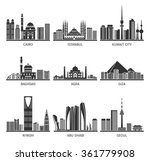 eastern capitals famous... | Shutterstock .eps vector #361779908