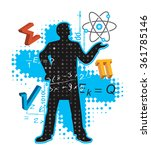 teacher of maths and physics.... | Shutterstock .eps vector #361785146