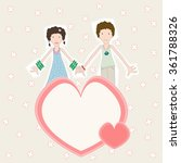 girl and boy in love card | Shutterstock .eps vector #361788326