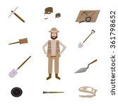 archeology vector illustrations.... | Shutterstock .eps vector #361798652